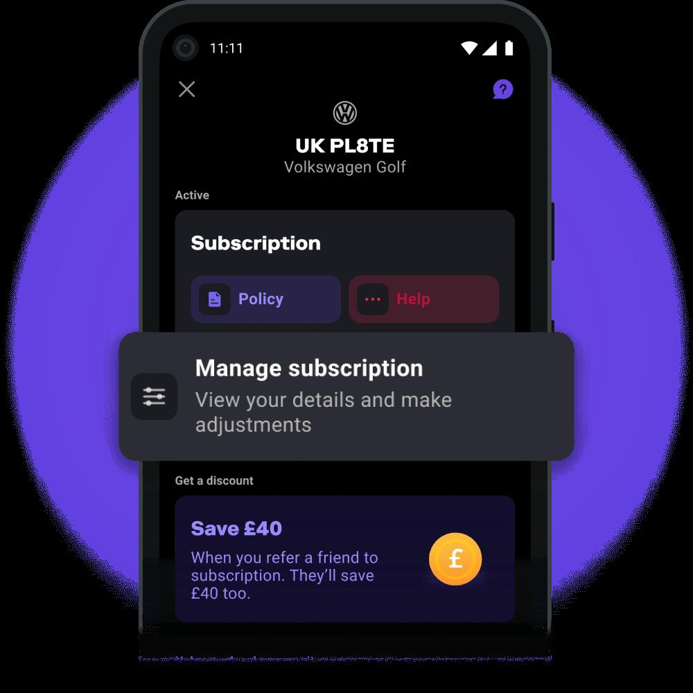 image manage subscription dark